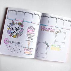 Summer Weekly Spread in my bullet journal