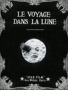 """""""Le Voyage Dans La Lune"""" (A Trip to The Moon) is a science fiction film from the French film pioneer Georges Méliès from the year 1902 Science Fiction, Fiction Film, Trading Card Sleeves, Hugo Cabret, Art Trading Cards, I Love Cinema, Card Book, Cinema Posters, Music Posters"""