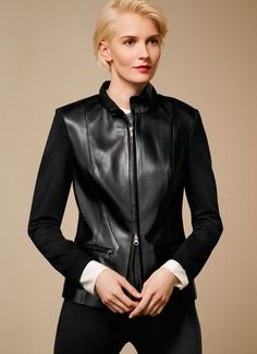 Leather and Ponte Jacket