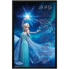 Disney's Frozen ''Let It Go'' Framed Wall Art by Art.com ($104) ❤ liked on Polyvore featuring home, home decor, wall art, blue, blue home decor, framed wall art, disney wall art, blue wall art and disney home decor