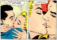 Amor en comics vintage (in love Detected) Pulp Fiction Comics, Comics Vintage, 60s Rock, Nothing Else Matters, Vintage Romance, Rock N Roll, Find Image, We Heart It, First Love