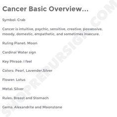 Cancer ♋ Zodiac Sign Basic Overview Zodiac Signs Astrology, Zodiac Horoscope, Zodiac Quotes, Cancer Astrology, Cancer Horoscope, Cancer Leo Cusp, Cancer Zodiac Facts, Cancer Quotes, July Cancer