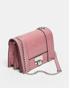 Minisac bandoulière effet croco - Sacs & sacs à dos   Stradivarius France Crocs, Crossbody Bag, France, Fashion, Bag, Accessories, Fashion Styles, Moda, Fasion