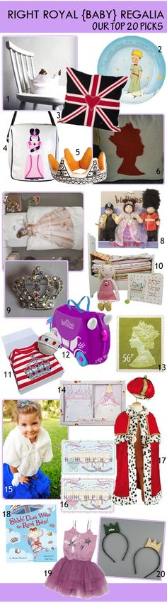 KidStyleFile Roundup: Right Royal Baby Regalia – Top 20 Royalty Themed Baby & Kids Products