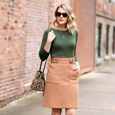 Boat Neck Sweater With Side Rib Detail In Olive - Travel Outfits Nyc Fashion, Fall Fashion Outfits, Autumn Fashion, Fashion Trends, Fashion Inspiration, Fashion Spring, Woman Fashion, Fashion Ideas, Winter Outfits