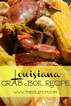 Four Kitchen Decorating Suggestions Which Can Be Cheap And Simple To Carry Out Louisiana Crab Boil Recipe. Bit by bit Directions How To Prepare And Cook Blue Crabs. Snap On The Picture To Get This Delicious Crab Recipe. Seafood Boil Recipes, Cajun Recipes, Seafood Dishes, Fish Recipes, Cooking Recipes, Cajun Food, Cajun Seafood Boil, Southern Seafood Boil Recipe, Shrimp And Crab Boil
