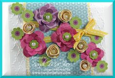 Stampin' Up! DSP Flowers close up!
