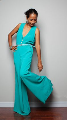 Stylish Trendy Jumpsuit  Jumper Maxi Dress   Simply by Nuichan, $65.00