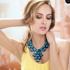 Accesorios grandes de moda. Tendencias joyería Dupree Turquoise Necklace, Jewelry, Fashion, Vibrant Hair Colors, Seasons, Trends, Accessories, Moda, Jewlery