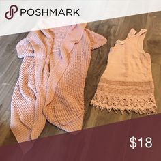 Blush bundle! It's a bundle of blush! The sweater is from forever 21 and fits like a small. Items for sale separately as well! Forever 21 Tops