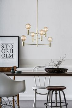 You save - Ceiling lamp Capital from Markslöjd. Large lamp caps Max incandescent bulb or or equivalent. Office Interior Design, Interior Design Inspiration, Interior Decorating, Ceiling Lamp, Ceiling Lights, Lustre Metal, Large Lamps, Structure Metal, Home Office Chairs