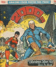 """James Bolivar DiGriz, alias """"Slippery Jim"""" and """"The Stainless Steel Rat"""", is the fictional hero of a series of humorous science fiction novels written by Harry Harrison. Comic Book Pages, Comic Book Covers, Comic Books, Abc Warriors, 2000ad Comic, Harry Harrison, Amazonian Warrior, Comic Style Art, Stainless Steel Screen"""