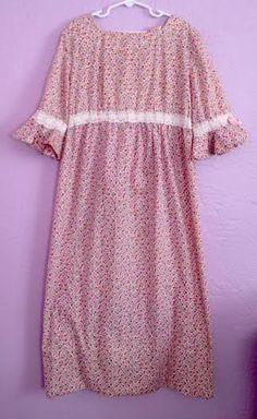 Vintage 1970's Hippie Chic Floral Dress. Vintage by filodiluna