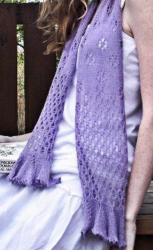 If you're knitting a scarf for summer, or several, make sure to add this Flit 'n Float Butterfly Scarf to your list. If the soft, muted purple tone doesn't intrigue you enough, the delicate lace pattern and ruffled edges certainly will. Knit Cowl, Knitted Shawls, Crochet Scarves, Scarf Knit, Knitting Scarves, Ruffle Scarf, Lace Scarf, Knit Or Crochet, Lace Knitting
