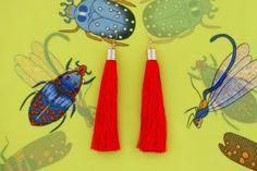 Watermelon Slice Tassel Earrings