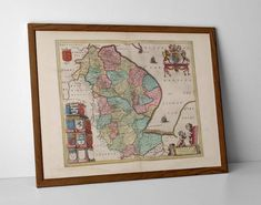 Lincolnshire, originally created by Willem Janszoon Blaeu, now available as a 'museum quality' poster print.  #AntiqueMapGranthan #BourneAntiqueMap #homedecor #travelposter #interiordesign #hahnemuhle #LincolnOldMap #lincolnshireold #Lincolnshire #MapofNorthEngland #oldmap #OldMapLincoln #OldMapLouth #OldMapSleaford #spalding #Spalding #StamfordOldMap #VintageMapSkegness