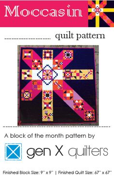Image of Moccasin Block of the Month Club 2015 - PDF