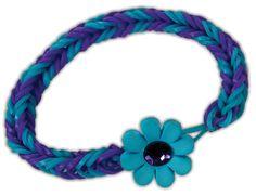 Crafts Direct Project Idea: Flower Clasp Loom Band Bracelet.
