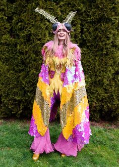 Rosy Maple Moth Costume, Mardi Gras 2019 - Real Time - Diet, Exercise, Fitness, Finance You for Healthy articles ideas Mardi Gras Outfits, Mardi Gras Costumes, Carnival Outfits, Cool Costumes, Cosplay Costumes, Cosplay Ideas, Rosy Maple Moth, Halloween Party, Halloween Costumes