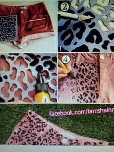 Met een watervaste textielstift. Gewoon een patroon overtrekken!