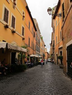 Loved walking down streets such as this in Rome with my classmates, in search of art & gelato!