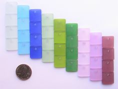 making Sea Glass  jewelry PENDANTS 36 pc Aqua Green Teal Blue Top Drilled beads assorted colors