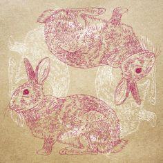 Orie's art【Rabbit / うさぎ2 】#rabbitillust #design #動物イラスト #うさぎイラスト #rabbit #イラスト #デザイン #イラスト #細密画 #絵 #おしゃれイラスト Illustration, Illustrations