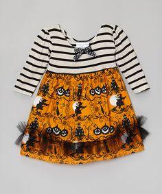 Orange & Black Halloween Dress - Infant & Toddler | zulily