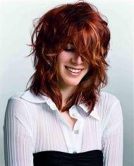 włosy rude kręcone półdługie
