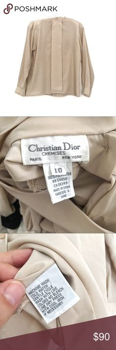 Christian Dior vintage blouse With shoulder pads!! Polyester blouse with one small spot on the front. Also one broken button. Christian Dior Tops Blouses