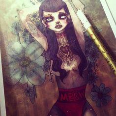 Signing prints :) Oliva Rose