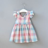 fashion girl dress on sale at reasonable prices, buy VORO BEVE Summer Children Clothes Baby Girl Clothes Small Flying Sleeves Color Stripes Plaid Dress Fashion Girls Dresses from mobile site on Aliexpress Now! Little Girl Dresses, Girls Dresses, Summer Dresses, Dress Girl, Baby Outfits, Kids Outfits, Ruffle Sleeve Dress, Plaid Dress, Cute Dresses