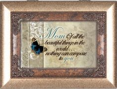Mom Amber Cottage Garden Digital Music Box Plays Wind Beneath My Wings * Learn more by visiting the image link.