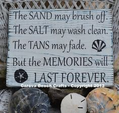 Beach Decor Salt May Brush Off Tans May Fade by CarovaBeachCrafts