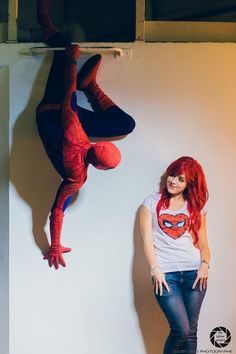 Spiderman and Mary Jane by Lily-on-the-moon.deviantart.com #cosplay