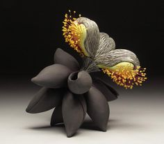 Floral decorations made of polymer clay. Artists Jeffrey LLoyd and An Fen Kuo - Fair Masters - handmade, handmade