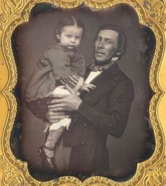 ca. 1855, [daguerreotype portrait of a gentleman holding his daughter], Lewis Babbit  via Christopher Wahren Fine Photographs, Skylight Gallery