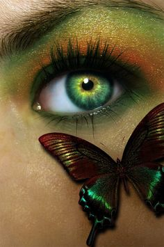 "This Fall me Look just captures the eyes with a slight wildness tamed though!!  ""Butterfly Beautiful"""