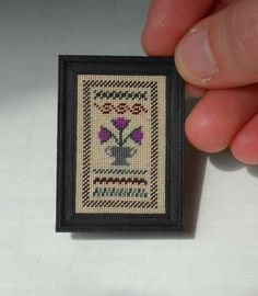 Miniature Band Sampler with Tulips in Urn in Petit by ArtaHistoria, $64.00