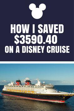 How I Saved $3590.40 on a Disney Cruise