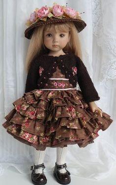 Chocolate Ruffles - Petite Princess Designs