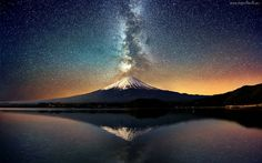 Góry, Jezioro, Wulkan, Erupcja