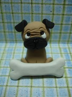 Personalized Pug Clay Figurine by ClayCreationsbyLaura on Etsy, $10.00