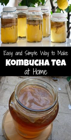 Easy and Simple Way to Make Kombucha Tea at Home