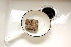 washing up.