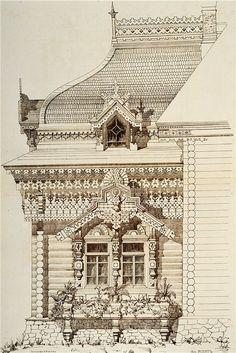 Architechure- motifs of ancient Russian architecture (Exposition Universelle,Paris 1878 )