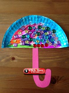 Crafting with paper plates - 51 unusual crafting ideas for kids .- Basteln mit Papptellern – 51 ausgefallene Bastelideen für Kinder tinkering with paper plates make umbrella from paper plates - Daycare Crafts, Toddler Crafts, Preschool Crafts, Spring Craft Preschool, Children Crafts, Preschool Classroom, Free Preschool, Spring Crafts For Kids, Art For Kids