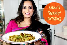 Curry Potato Recipe – AKA Sarah's Swanky Potatoes! Curry Potatoes recipe - Really easy simple and yummy. Great for kids and the whole family. Would make a fantastic BBQ Side dish too. Mustard Seeds, Curry Leaves, Turmerick.