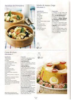 Coroa de Atum ... Feta, Oatmeal, Food And Drink, Breakfast, Ancient Recipes, Penne Pasta, Mango Jam, Rice, Entrance Halls