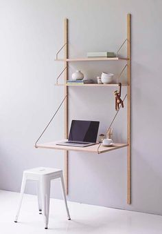 The iconic Royal System Shelving w/ Desk by Poul Cadovius for dk3 - Now available at Nest.co.uk. Read the blog post: http://www.nest.co.uk/dk3-royal-system-the-revival